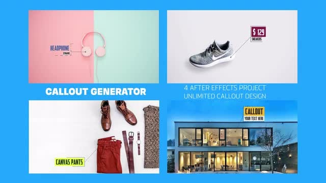 Call Out Generator: After Effects Templates