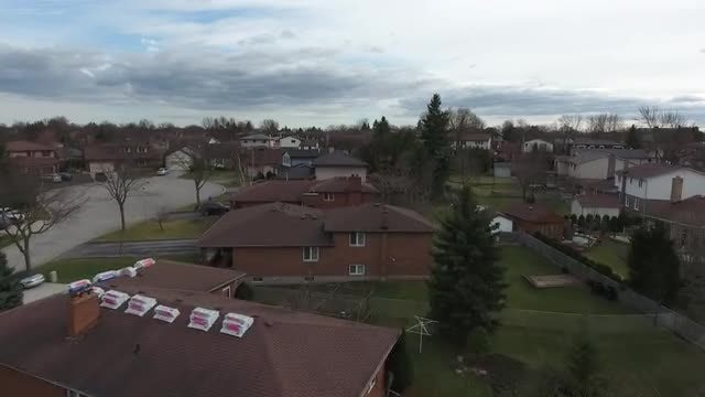 Low Flight Over A Neighborhood: Stock Video