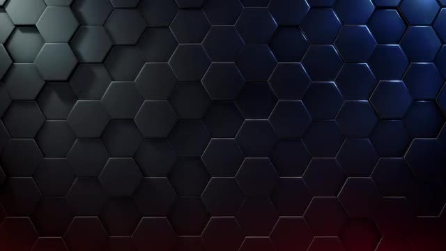 Extruded Hexagon Background: Stock Motion Graphics