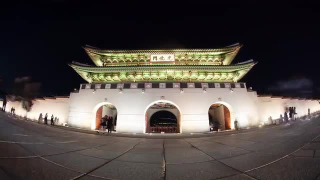 Time Lapse Of Gwanghwamun : Stock Video