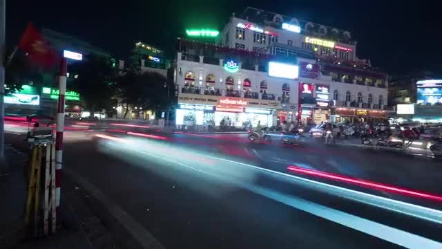 Viet Nam City At Night : Stock Video