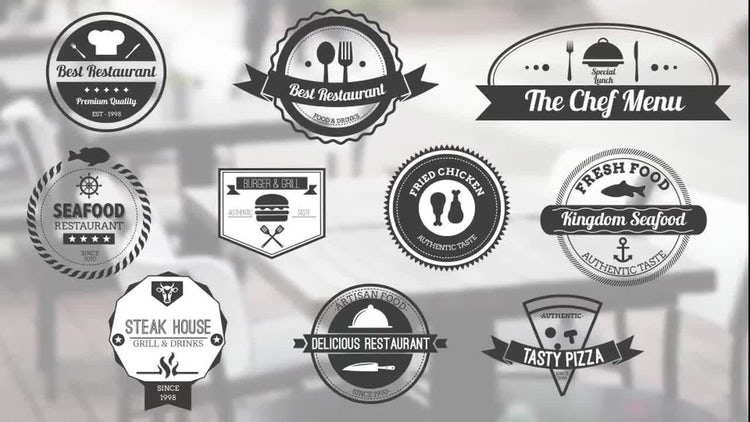10 Food Badges: After Effects Templates