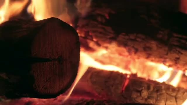 Fireplace Flames: Stock Video
