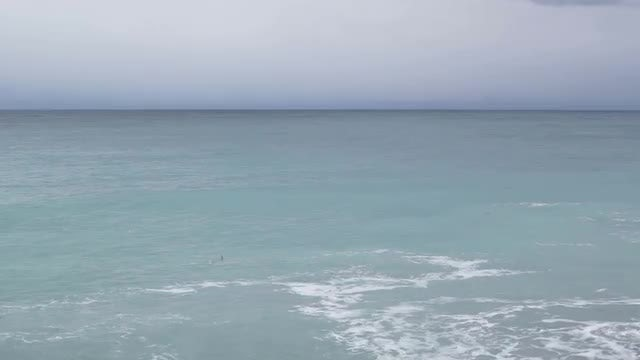 Wide-angle Shot Of Ocean: Stock Video