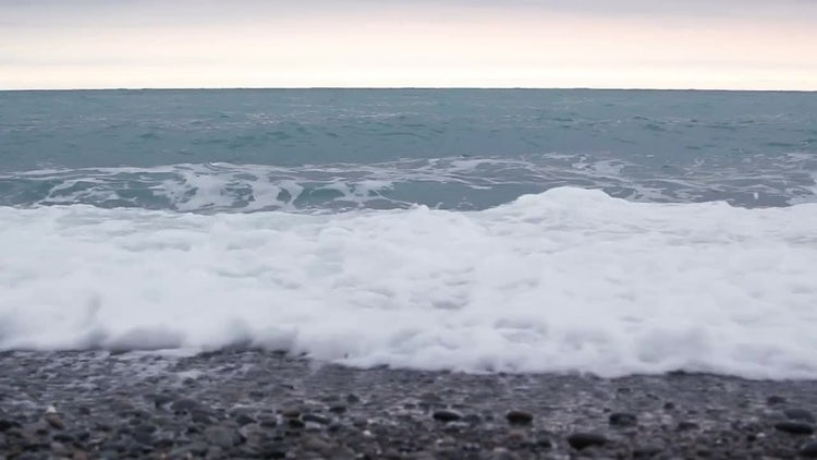 Ocean Waves Spreading On Beach: Stock Video