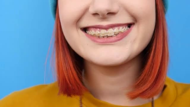Close-up Of Girl Smiling : Stock Video