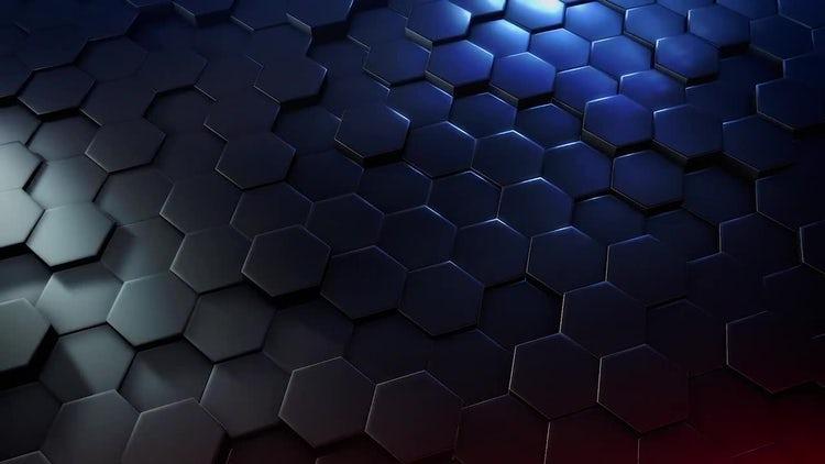 Hexagon Background: Stock Motion Graphics