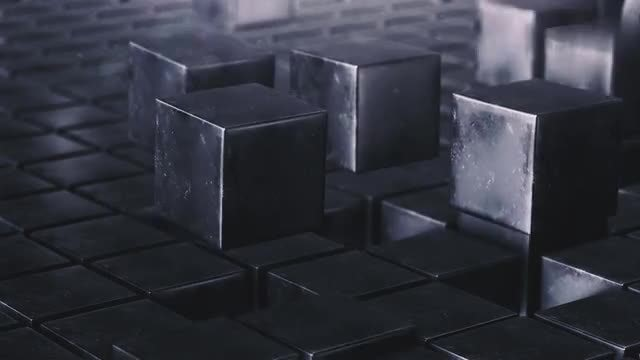 Grunge Cube Field Animation Loop: Stock Motion Graphics