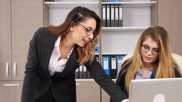 Businesswomen Talking In The Office: Stock Video