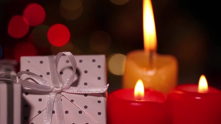 Gift Boxes And Candles: Stock Video