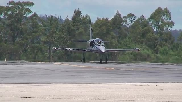 Two L-39 Albatros On The Runway: Stock Video