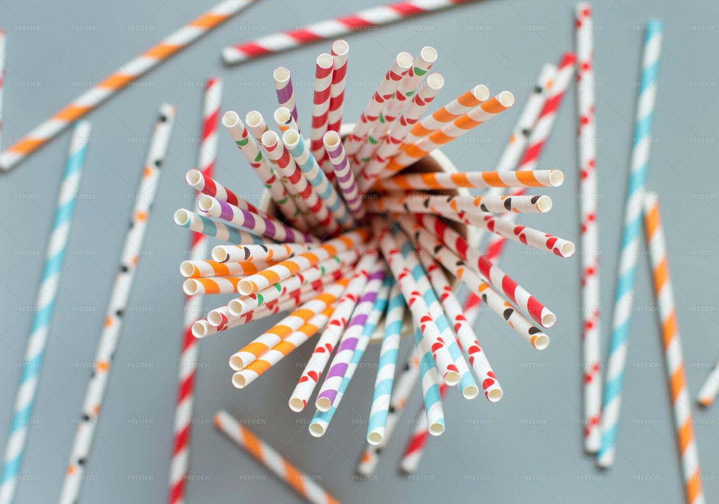 Paper Drinking Straws: Stock Photos