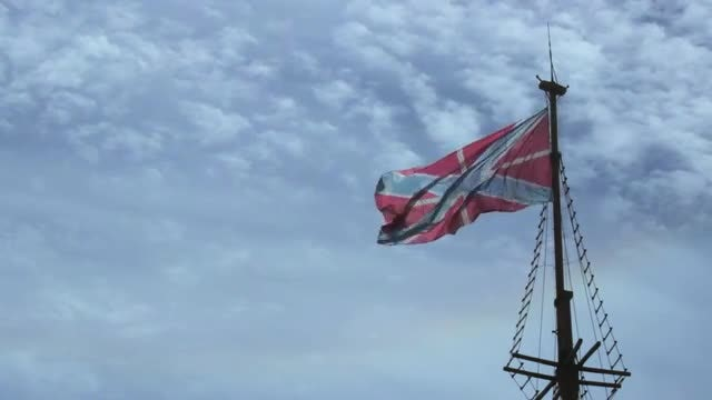 Flag Fluttering In The Wind: Stock Video