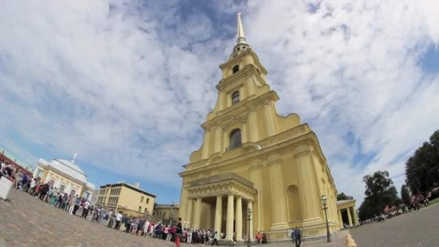 Visitors Queue At Orthodox Church: Stock Video