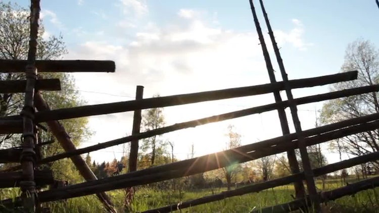 Wooden Fence: Stock Video
