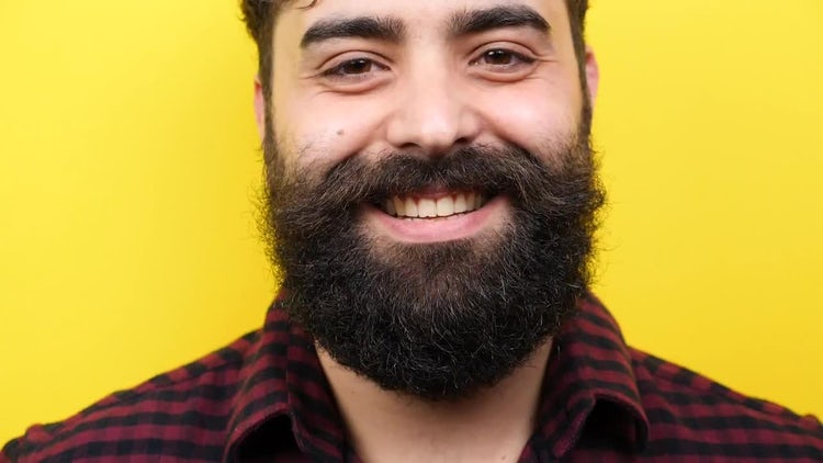 Bearded Hipster Looking And Smiling : Stock Video