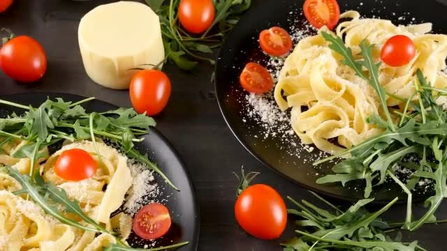 Delicious Food Items On Table: Stock Video