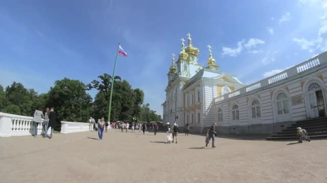 Golden Domes Of Russian Church: Stock Video
