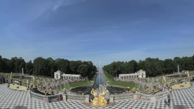 Famous Big Fountain Of Peterhof: Stock Video