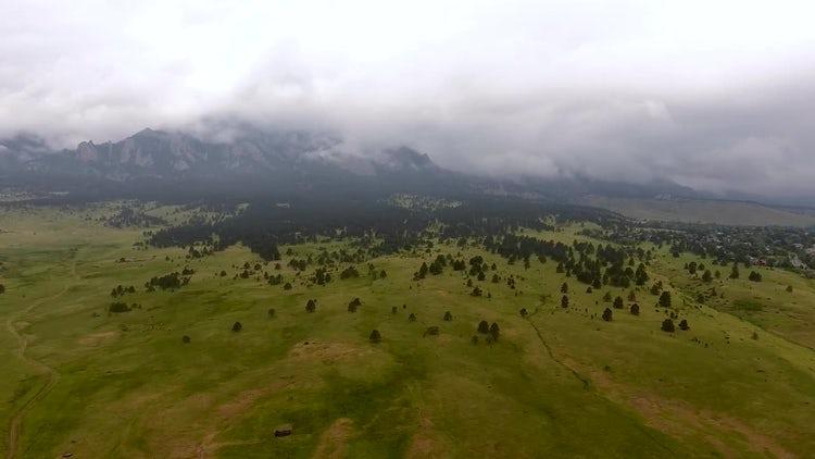 Rainy Mountain Fly By: Stock Video