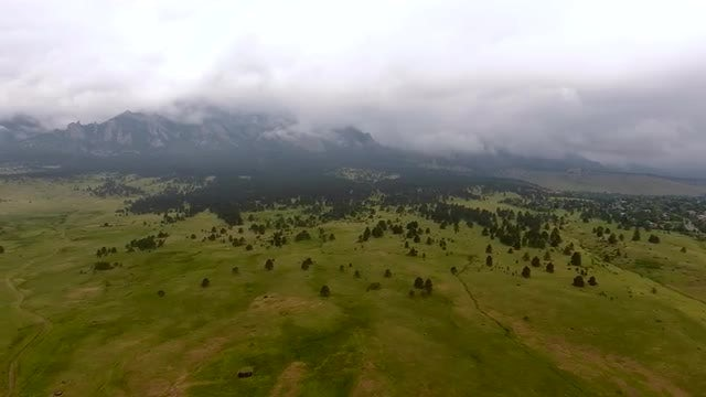 Rainy Mountain Fly By: Stock Video