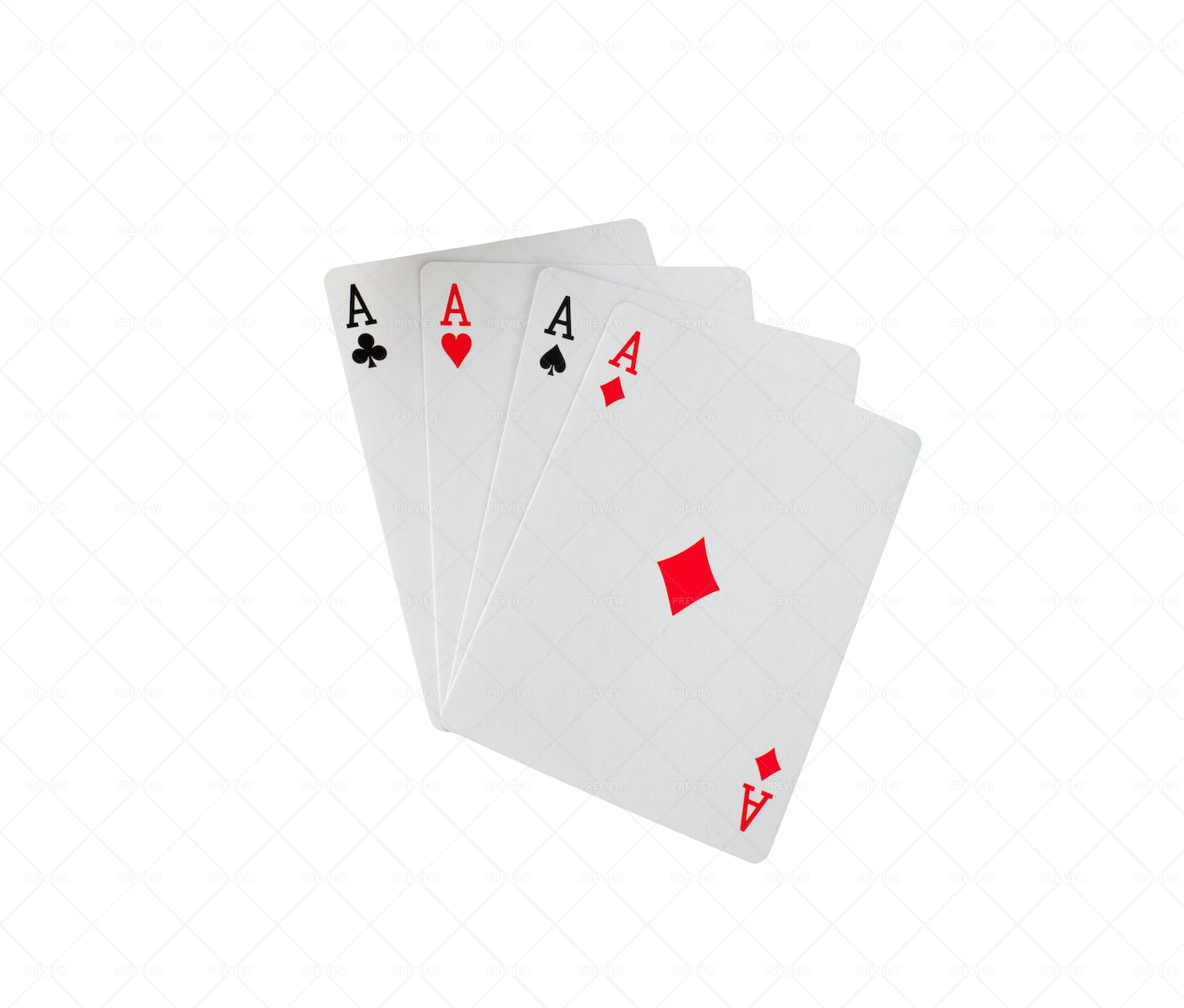 Playing Cards On White: Stock Photos
