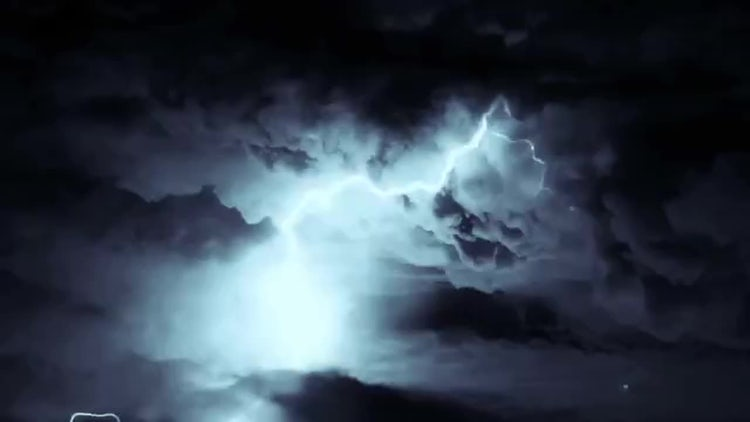 Lightning Storm Background Loop: Motion Graphics