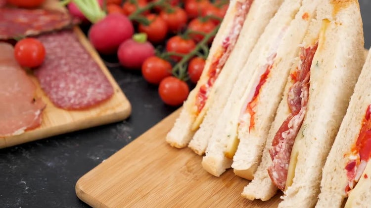 Sandwiches And Cold Cuts : Stock Video
