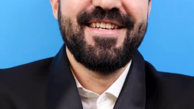 Close-up Shot Of Happy Man: Stock Video
