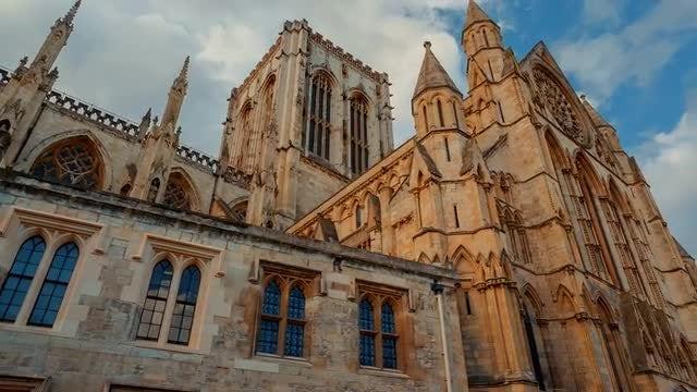 POV Shot Of York Minster: Stock Video