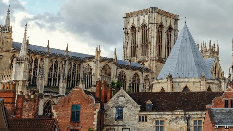 Medieval Town of York, England: Stock Video