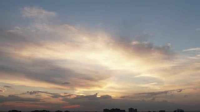 Time Lapse Of Moving Clouds: Stock Video
