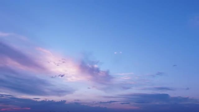 Time Lapse Of Blue Sunset : Stock Video