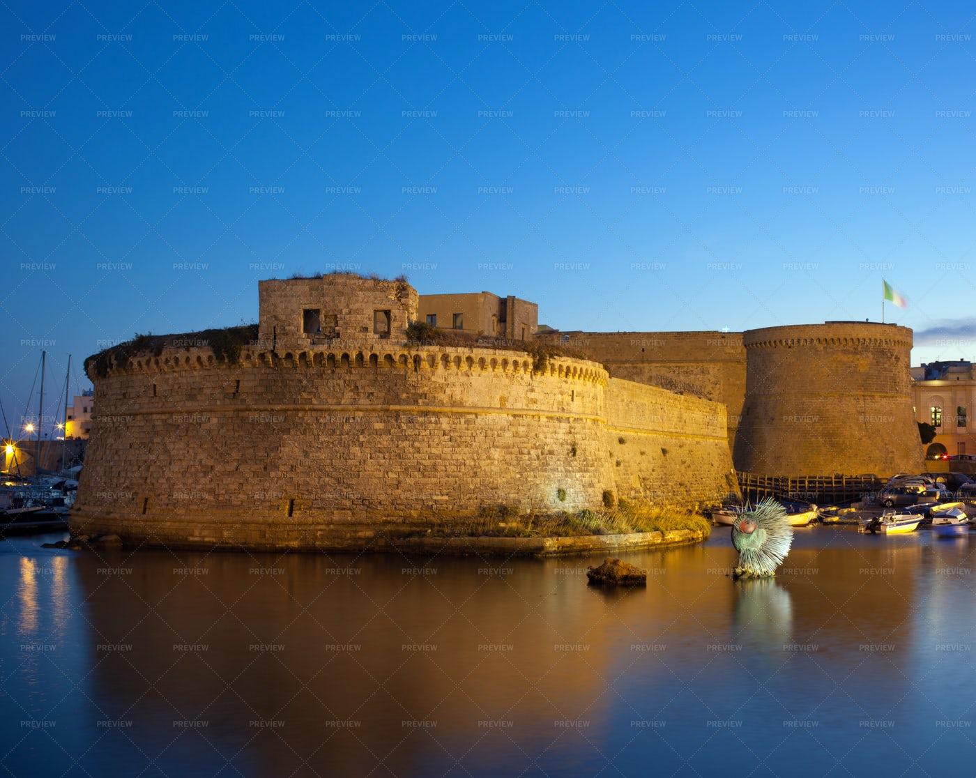 Angevin Castle Of Gallipoli: Stock Photos