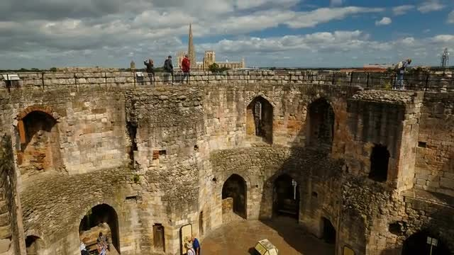 Cliffords Tower, York, UK: Stock Video