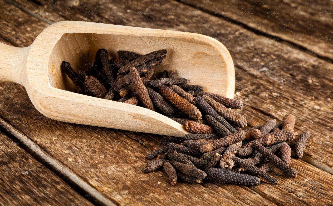 Long Pepper Or Piper Longum: Stock Photos