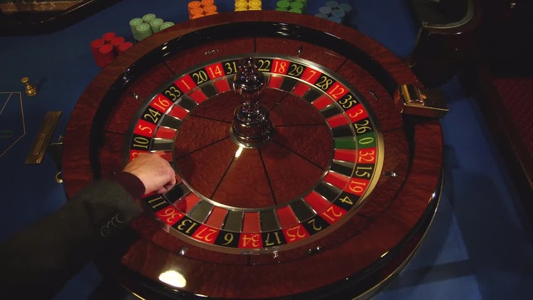 Roulette Wheel Spinning In Casino: Stock Video