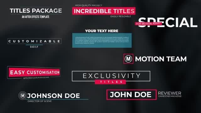Lower Thirds - After Effects Templates | Motion Array
