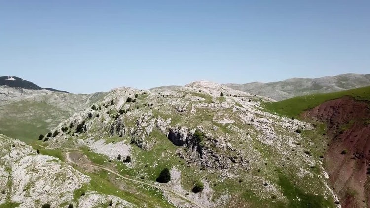 Aerial Shot Of Beautiful Mountain : Stock Video