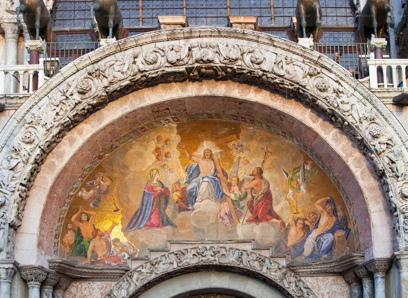 Paint In  Saint Mark's Basilica: Stock Photos