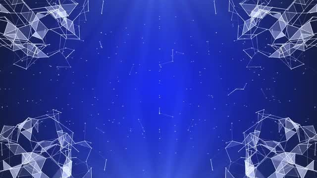 Plexus Network Blue Background Pack: Stock Motion Graphics
