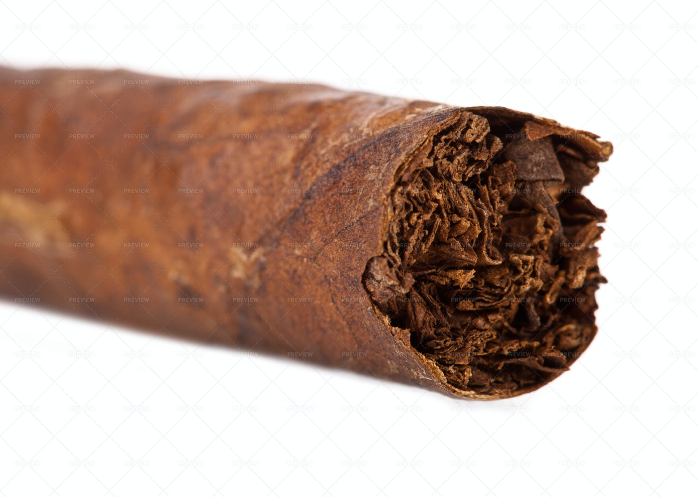 Macro Detail Of Cigar: Stock Photos