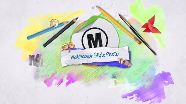Watercolor Style Photos: After Effects Templates