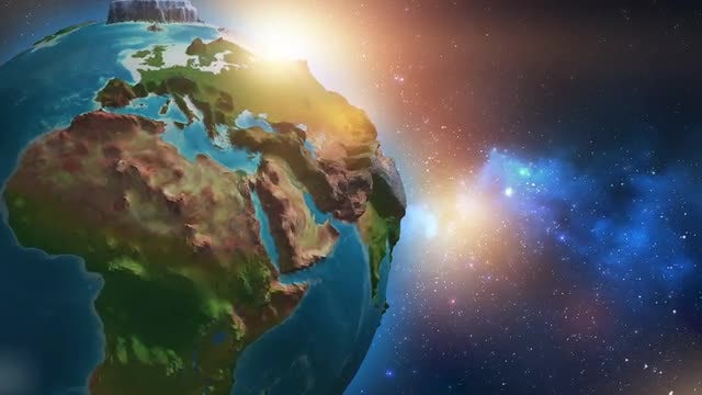 3D Rotating Earth Loop: Stock Motion Graphics
