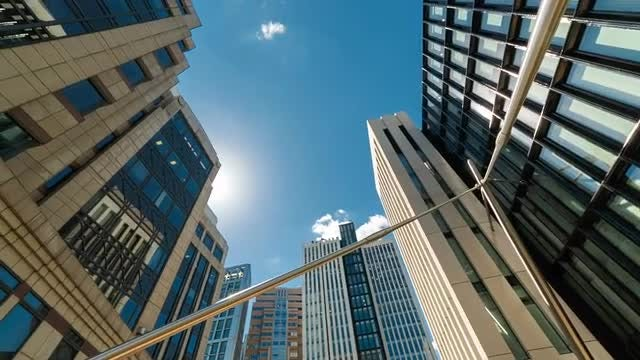 POV Of Corporate Office Buildings: Stock Video