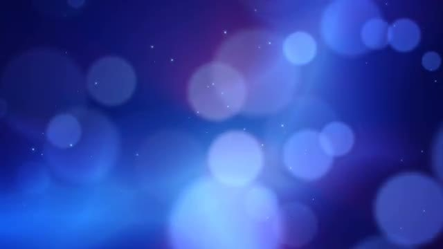 Blue Abstract Background with Bokeh Effect: Stock Motion Graphics