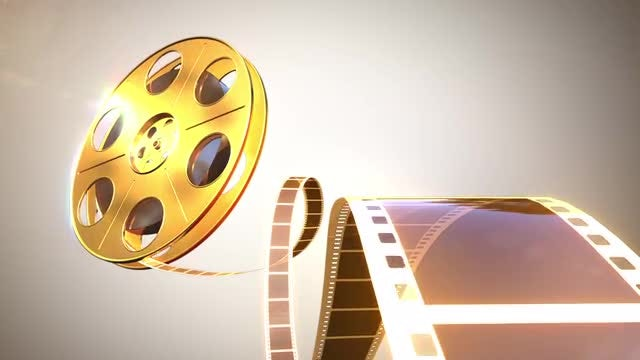 Gold Cinema Reel : Stock Motion Graphics
