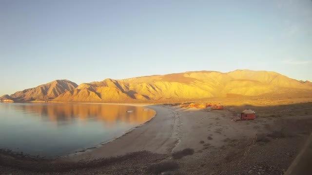 Time Lapse Of Desert Beach: Stock Video