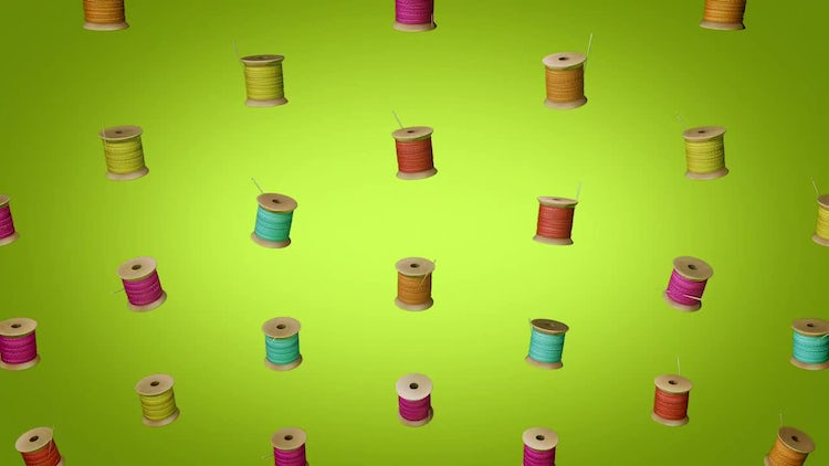 Thread Spools Background: Stock Motion Graphics