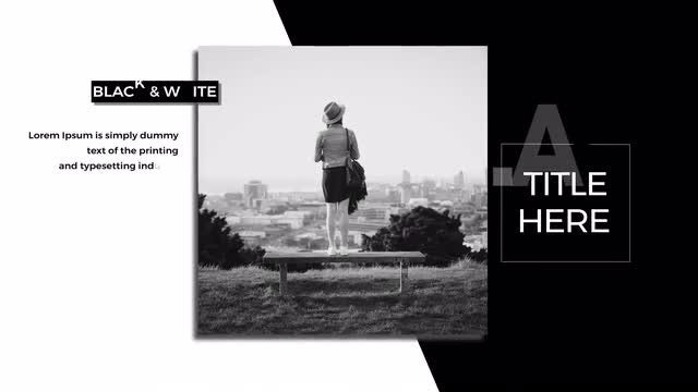 White & Black: After Effects Templates